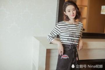 32岁赵丽颖产后也放开了165cm学杨幂穿露胃装美得认不出